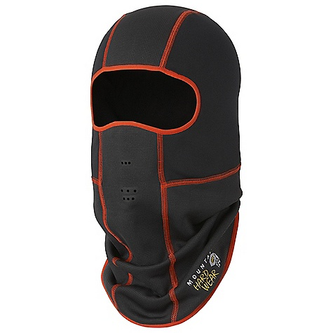 Mountain Hardwear Desna Balaclava DECENT FEATURES of the Mountain Hardwear Desna Balaclava Microclimate zoning combines two different weight fabrics for optimal climate control Windproof, breathable, and lightweight Snug fit for use under a hood or helmet Die cut breath holes for nose and mouth The SPECS Average Weight: 3 oz / 72 g Body: Stretch Fleece (93% polyester, 7% elastane) Panel: Technostretch (93% polyester, 7% elastane) - $39.95