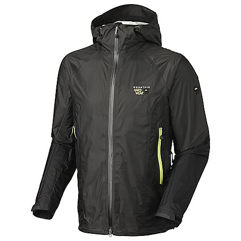 On Sale. Free Shipping. Mountain Hardwear Men's Tunnabora Jacket DECENT FEATURES of the Mountain Hardwear Men's Tunnabora Jacket Attached, helmet-compatible hood with single handed draw cord for quick fit adjustments Watertight zips seal out moisture Super light, extra-long pit zips for ventilation Cuff tabs and hem draw cords for quick fit adjustments Interior zip pocket for keys, ID, other small items Internal stash pocket Micro-Chamois-lined chin guard eliminates zipper chafe The SPECS Average Weight: 10.7 oz / 303 g Center Back Length: 30in. / 76 cm Body: 15D 2.5L Ripstop (100% nylon) - $178.99