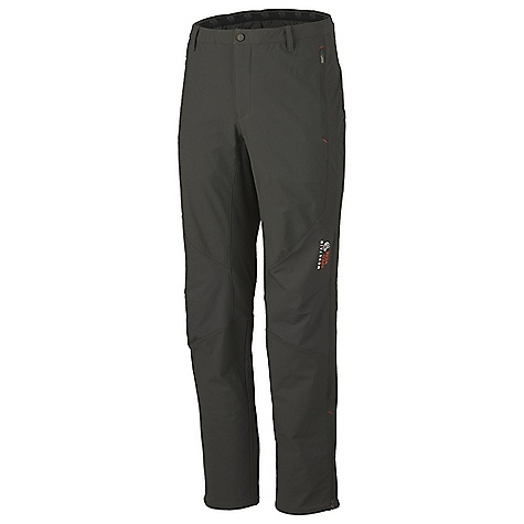 Free Shipping. Mountain Hardwear Men's Warlow Pant DECENT FEATURES of the Mountain Hardwear Men's Warlow Pant Elastic waist band with belt loops for customized fit Zippered hand pockets Articulated knees Zippered gussets at hem The SPECS Average Weight: 13.8 oz / 392 g Inseam: 30, 32, 34in. / 76, 81, 86 cm Body: Double Weave twill (92% nylon, 8% elastane) - $149.95