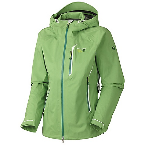 On Sale. Free Shipping. Mountain Hardwear Women's Spinoza Jacket DECENT FEATURES of the Mountain Hardwear Women's Spinoza Jacket Helmet-compatible hood with single-pull adjustment system and extra beefy brim Chest-high hand pockets accommodate a harness or pack Superlight, extra-long pit zips for ventilation Welded watertight pockets and zips seal out moisture The SPECS Average Weight: 15 oz / 430 g Center Back Length: 27.5in. / 70 cm Body: 20d Dry.Q Elite 3l terra Shell (50% nylon, 50% polyester) - $246.99