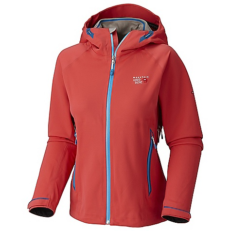 On Sale. Free Shipping. Mountain Hardwear Women's Trinity Jacket DECENT FEATURES of the Mountain Hardwear Women's Trinity Jacket Total waterproof protection Chest-high pockets accommodate a harness or pack Helmet-compatible hood with single-pull adjustment system and extra beefy brim Watertight zips seal out moisture Pit zips for ventilation The SPECS Average Weight: 1 lb 2 oz / 524 g Center Back Length: 27in. / 69 cm Body: Dry.Q Lightweight Softshell (50% nylon, 50% polyester) - $174.99
