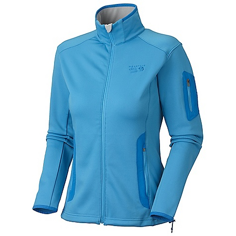 On Sale. Free Shipping. Mountain Hardwear Women's Arlando Jacket DECENT FEATURES of the Mountain Hardwear Women's Arlando Jacket Dual hem drawcords for quick fit adjustments Full elastic cuffs to seal in warmth Zippered sleeve pocket for small items Micro-Chamois-lined chin guard Two mesh lined hand pockets The SPECS Average Weight: 14 oz / 398 g Center Back Length: 25in. / 64 cm Body: Stretch Fleece (90% polyester, 10% elastane) - $82.99