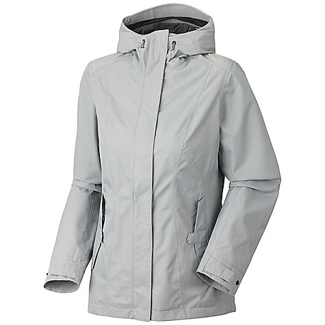 Free Shipping. Mountain Hardwear Women's Genevara Jacket DECENT FEATURES of the Mountain Hardwear Women's Genevara Jacket Attached, adjustable hood Zip hand warmer pockets with covered placket snap closure Adjustable snap cuff tabs Interior zip pocket for keys, ID, other small items Micro-Chamois-lined chin guard prevents zipper chafe The SPECS Average Weight: 1 lb 1 oz / 491 g Center Back Length: 29in. / 74 cm Body: Urban Dobby (72% nylon, 28% polyester) - $170.00
