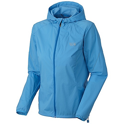 On Sale. Free Shipping. Mountain Hardwear Women's Geist Hooded Jacket DECENT FEATURES of the Mountain Hardwear Women's Geist Hooded Jacket Adjustable hood Full front zipper with chin guard for comfort Zipped chest pocket with earpiece cord exit One-handed hem draw cord seals in warmth Reflective trim for visibility The SPECS Average Weight: 5 oz / 142 g Center Back: 26in. / 66 cm Body: Geist 40D Stretch Ripstop (100% nylon) - $67.99