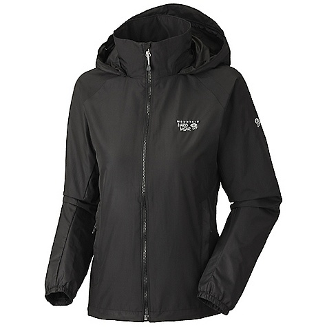 Free Shipping. Mountain Hardwear Women's Windrush Jacket DECENT FEATURES of the Mountain Hardwear Women's Windrush Jacket Attached, adjustable roll-away hood Single hem draw cord for quick fit adjustment Full elastic cuffs slide easily over layers to seal in warmth Two mesh lined hand pockets The SPECS Average Weight: 12.4 oz / 351 g Center Back Length: 25.5in. / 65 cm Body: Windshell - $75.00