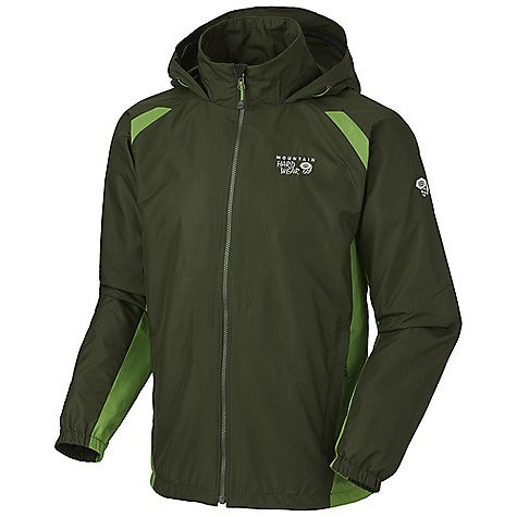 Free Shipping. Mountain Hardwear Men's Windrush Jacket DECENT FEATURES of the Mountain Hardwear Men's Windrush Jacket Attached, adjustable roll-away hood Single hem draw cord for quick fit adjustment Full elastic cuffs slide easily over layers to seal in warmth Two mesh lined hand pockets The SPECS Average Weight: 13.1 oz / 370 g Center Back Length: 28in. / 71 cm Body: Windshell - $74.95