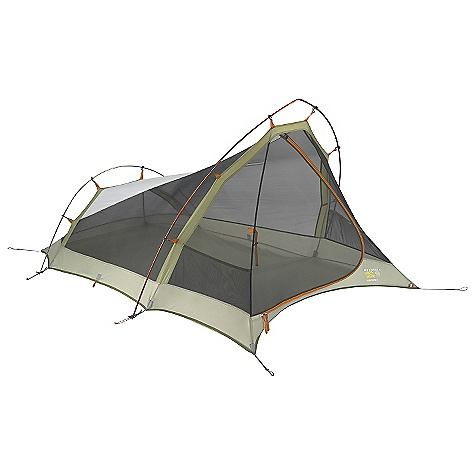 Camp and Hike Free Shipping. Mountain Hardwear LightPath 3 Person Tent DECENT FEATURES of the Mountain Hardwear LightPath 3 Person Tent Industry leading DAC Featherlight NSL poles Vestibule design creates a dry entry into tent Proprietary Evolution Tension Arch stabilizes tent using fewer poles One mesh door with dual-slider zipper for easy entry and exit Clear SVX window is UV-resistant, providing a view and extra light Pitch Light configuration allows user to set up a super light shelter using only the tent fly, poles and footprint (sold separately) Reflective starter point and guy-out loops for easy set-up at night Gear can be stored in canopy storage pockets or optional rectangular gear loft(sold separately) Superlight 1/4in. buckles and webbing reduce tent weight Color coded pole loops for easy set up The SPECS Capacity: 3 Person Pitch Type: Non-freestanding Minimum Weight: 5 lbs 1 oz / 2.28 kg Pitchlight Weight: 3 lbs 13 oz / 1.73 kg Floor Area: 44 square feet / 4.1 square meter Canopy: 68D Polyester Ripstop DWR (100% polyester)/20D Nylon Knit Mesh (100% nylon) Fly: 75D Polyester Taffeta 1500mm PU Floor: 70D Nylon Taffeta 3000mm PU Poles: DAC Featherlight NSL Packed Weight: 5 lbs 9 oz / 2.52 kg Vestibule Area: 15 square feet / 1.4 square meter Interior Peak: 48in. / 122 cm Number of Pole: 2 Doors: 1 Vestibules: 1 Packed Size: 6 x 23in. / 15 x 58 cm Reinforcement: 68D Polyester Ripstop, 2x callendared, DWR, FR - $239.95