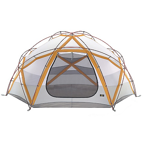 Camp and Hike On Sale. Free Shipping. Mountain Hardwear Satellite 6 Person Tent DECENT FEATURES of the Mountain Hardwear Satellite 6 Person Tent Industry leading DAC Pressfit poles Guaranteed watertight construction with fully taped fly, taped perimeter seam, welded corners and welded guy clip anchors Rain room tested with 1200in. of rain in 24 hours Evolution Tension Arch One dry entry vestibule Three dual canopy and mesh doors Pitch Light configuration allows user to set up a super light shelter using only the tent fly, poles and footprint (sold separately) 1 SVX window Welded guy clip anchors Internal guy system Reflective guy out loops Welded zipper flaps Reflective zipper pulls Mesh storage pockets Mesh and canopy zippered thru-vent Super-light 1/4in. buckles and webbing Reflective starter point Triangular and rectangular gear loft options The SPECS Capacity: 6 Person Pitch Type: Freestanding Minimum Weight: 29 lbs 9 oz / 13.39 kg Pitchlight Weight: 19 lbs 2 oz / 8.67 kg Floor Area: 107 square feet / 9.9 square meter Reinforcement: 75D Polyester SD Ripstop 600mm PE Canopy: 40D Nylon Ripstop DWR (100% nylon)/20D Nylon Knit Mesh (100% nylon) Fly: 70D Nylon Taffeta 1500mm PU/SIL Floor: 210D Nylon Taffeta 5000mm PE DWR Poles: DAC Pressfit Packed Weight: 31 lbs 14 oz / 14.43 kg Vestibule Area: 28 square feet / 2.6 square meter Interior Peak: 76in. / 193 cm Number of Pole: 7 Doors: 3 Vestibules: 1 Packed Size: 7in. x 26in. / 20 x 66 cm - $2,099.99