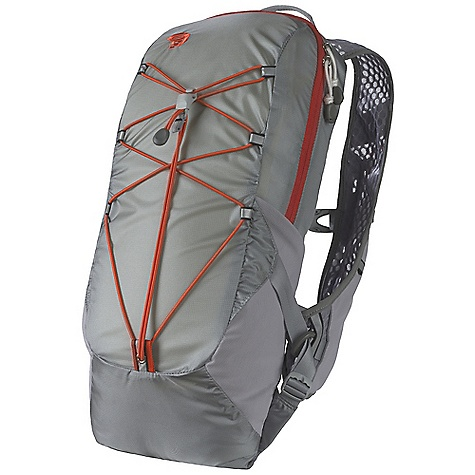Camp and Hike On Sale. Free Shipping. Mountain Hardwear Fluid 6L Pack DECENT FEATURES of the Mountain Hardwear Fluid 6L Pack Well ventilated wall mesh shoulder straps Pocketing on shoulder straps provide quick access to energy bars, gel packs OTF (On-The-Fly) Compression lets user adjust load stability while wearing the pack without restricting motion Super stretchy mesh side pockets offer quick storage/access for water bottles or gear Bungee helps secure overloads and compress pack's load Hydration sleeve pocket inside main compartment with dual ports Reflective hits for high visibility and safety The SPECS Weight: 109.9 oz / 280 g Capacity: 365 cubic inches / 6 liter Body: 100d ht ripstop dobby nylon Accent: HexWall Mesh - $55.96