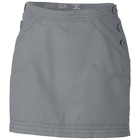 On Sale. Free Shipping. Mountain Hardwear Women's Sandhills Skirt DECENT FEATURES of the Mountain Hardwear Women's Sandhills Skirt Fabric combines the strength of hemp with the softness of cotton Side button entry Lots of pockets for storage The SPECS Apparel Fit: Relaxed Average Weight: 6.7 oz / 190 g Center Back Length: 16.75in. / 43 cm Body: Sandhills Slub (76% organic cotton, 24% hemp) - $41.99