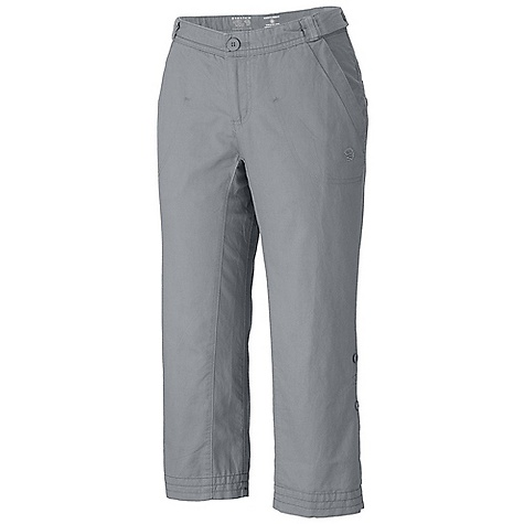 Free Shipping. Mountain Hardwear Women's Sandhills Capri DECENT FEATURES of the Mountain Hardwear Women's Sandhills Capri Fabric combines the strength of hemp with the softness of cotton Low rise cut and low-profile waist for comfort Inner waist drawcord for fit adjustments Full length inseam gusset for mobility Lots of pockets for storage Roll-up tabs at inner hem for a pedal pusher length The SPECS Apparel Fit: Relaxed Average Weight: 8.4 oz / 239 g Inseam: 22in. / 56 cm Body: Sandhills Slub (76% organic cotton, 24% hemp) - $69.95