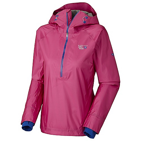 Free Shipping. Mountain Hardwear Women's Quasar Pullover DECENT FEATURES of the Mountain Hardwear Women's Quasar Pullover Deep, watertight zipper opening at neck for easy on/off and thermoregulation Low profile hood, with single-pull adjustment system Soft, in.Butter Jerseyin. cuffs Single hem drawcord for quick fit adjustment The SPECS Average Weight: 7.8 oz / 221 g Center Back Length: 26.5in. / 67 cm Body: Dry.Q Elite 15d ripstop 3l (50% nylon, 50% polyester) - $374.95