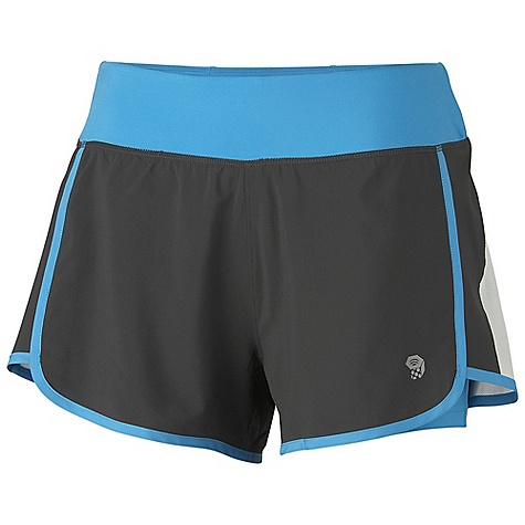 Free Shipping. Mountain Hardwear Women's Pacer 2 In 1 Short DECENT FEATURES of the Mountain Hardwear Women's Pacer 2 In 1 Short Wicking, fast drying, stretch fabric Inner short liner adds comfort and reduces chafing Mesh side panels for ventilation Secure zip pocket on back of waistband DWR finish repels water The SPECS Average Weight: 5 oz / 139 g Inseam: 4in. / 10 cm Body: 4-Way Stretch Ultralite Plain Weave 86% polyester, 14% elastane - $54.95