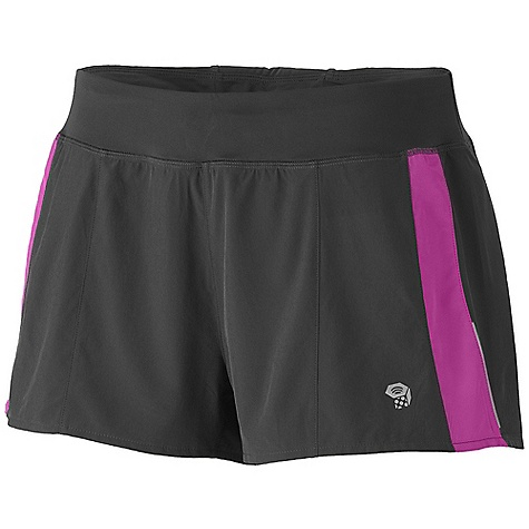 On Sale. Free Shipping. Mountain Hardwear Women's Ultrapacer Short DECENT FEATURES of the Mountain Hardwear Women's Ultrapacer Short Wicking, fast drying, stretch fabric Waist band pocket for small items Micro perforations at back yoke for ventilation DWR finish repels water UPF 30 The SPECS Apparel Fit: Semi-Fitted Average Weight: 3.1 oz / 87 g Center Back Length: 2.5in. / 6 cm Body: 4-Way Stretch plain weave (86% polyester, 14% elastane) Lining: So Fine Jersey (100% polyester) - $31.99