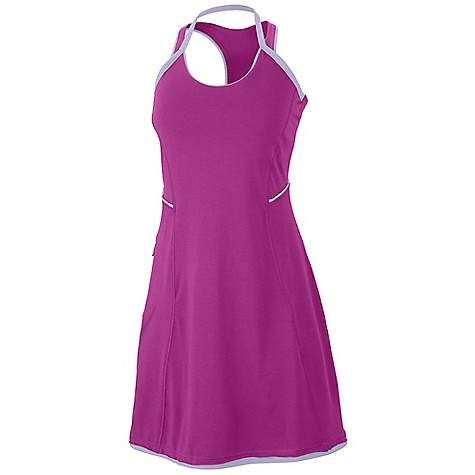 Entertainment On Sale. Free Shipping. Mountain Hardwear Women's Tonga Dress DECENT FEATURES of the Mountain Hardwear Women's Tonga Dress Soft tonal stripe Comfy cottton fabric feels great Side zip pocket for valuables The SPECS Average Weight: 8 oz / 237 g Center Back Length: 32.5in. / 83 cm Body: Side Stripe V6 Jersey (90% cotton, 10% elastane - $27.99