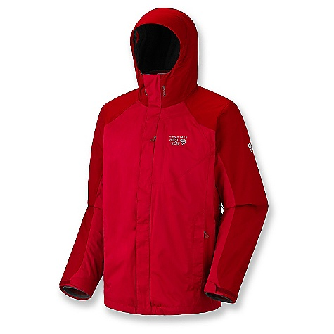 On Sale. Free Shipping. Mountain Hardwear Men's Eturnia Trifecta 3-In-1 Jacket DECENT FEATURES of the Mountain Hardwear Men's Eturnia Trifecta 3-In-1 Jacket Zip handwarmer pockets One-handed hood and hem drawcords for quick adjustments Plenty of interior pockets for all your gear Micro-Chamois-lined chin guard eliminates zipper chafe Fleece-lined chin guard prevents zipper chafe The SPECS for Shell Average Weight: 1 lb 6 oz / 623 g Center Back Length: 31in. / 79 cm Fabric: Body: Twill 2L (100% nylon) The SPECS for Liner Average Weight: 1 lb 3 oz / 533 g Center Back Length: 28in. / 71 cm Fabric: Body: Gridiron Fleece (100% polyester) - $179.99