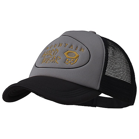 On Sale. Mountain Hardwear Truckery Ball Cap DECENT FEATURES of the Mountain Hardwear Truckery Ball Cap Foam front and mesh rear provides classicl trucker look Eyelets at crown provide ventilation Back plastic adjuster strap The SPECS Average Weight: 2.5 oz / 70 g Body: 100% Polyester (100% Polyester) Panel: 100% Nylon Mesh (100% Nylon) - $19.99