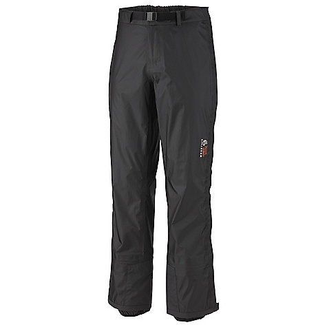 On Sale. Free Shipping. Mountain Hardwear Men's Quasar Pant DECENT FEATURES of the Mountain Hardwear Men's Quasar Pant Full-length side zippers for easy on/off Internal gaiter Adjustable waist with integrated belt for a custom fit Abrasion-resistant scuff guard for extra protection The SPECS Average Weight: 13 oz / 369 g Inseam Length: 32in. / 81 cm Body: DRY.Q Elite 15D Rip 3L - $223.99