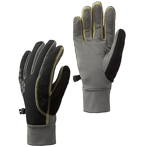 Fitness Mountain Hardwear Women's Momentum Running Glove DECENT FEATURES of the Mountain Hardwear Women's Momentum Running Glove Deflection softshell fabric is windproof and breathable, backed with polyester microfleece Butter Jersey wicks moisture and insulates Flat-lock construction for a seamless fit Nose wipe patch on thumb Index finger trap door to operate touch screen electronics The SPECS Average Weight: 1.16 oz / 33 g Body: Deflection Softshell 100% polyester Palm: Better Butter Jersey 89% polyester, 11% elastane - $39.95