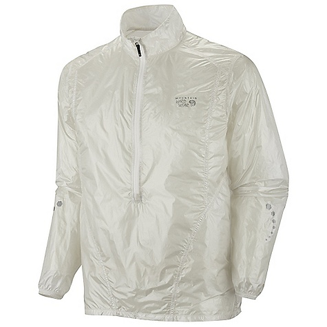 Free Shipping. Mountain Hardwear Men's Ghost Whisperer Anorak Jacket DECENT FEATURES of the Mountain Hardwear Men's Ghost Whisperer Anorak Jacket Super ultra lightweight shell Wind and water resistant Easily packable-stows in built in pocket Deep neck zipper for ventilation Reflective trim for visibility The SPECS Apparel Fit: Active Average Weight: 1.9 oz / 53 g Center Back Length: 28in. / 71 cm Body: 7 x 10d Whisperer ripstop (nylon) - $134.95