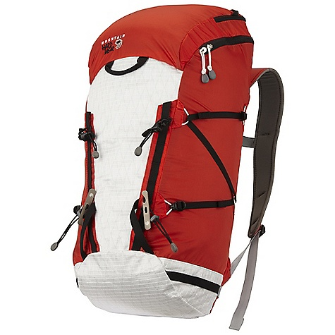 Climbing Free Shipping. Mountain Hardwear SummitRocket 30 Pack DECENT FEATURES of the Mountain Hardwear SummitRocket 30 Pack Compression molded backpanel is comfortable, sheds snow and ventilates HardWave framesheet provides comfortable carry, but is removable to reduce weight Dual daisies and ice axe cradles create versatile tool lashing opportunities Large zip top provides easy access to main compartment Versatile compression system secures climbing gear and overloads, but can be removed to reduce weight when not needed Front and rear grab loops are both clip secure Horizontal daisy chains on lower sides of pack offer clip points for gear and quick stash loops for ice axes The SPECS Weight: 15.5 oz / 440 g Capacity: 1830 cubic inches / 30 liter Torso Range: 16.0in. - 22.0in. / 41 - 56 cm Body: 100D HT Ripstop Dobby Nylon Accent: HardWear X-Ply Ripstop Bottom: HardWear X-Ply Ripstop - $149.95