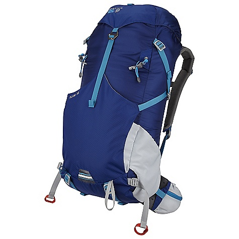 Camp and Hike On Sale. Free Shipping. Mountain Hardwear Fluid 32L Pack DECENT FEATURES of the Mountain Hardwear Fluid 32L Pack CoolWave Plus Suspension with air channels and breathable spacer mesh backpanel and lumbar provides excellent load support and great ventilation OTF (On-The-Fly) Compression lets user adjust load stability while wearing the pack without restricting motion Top loader with side zipper for additional access to upper pack Front compression pocket with stretch panels swallows up overloads Padded, ventilated waist belt with zip pockets adds stability and quick access storage Dedicated hydration sleeve with dual zips allows tube to exit right or left Sleeping pad straps double as compression for lower pack The SPECS Body: 100D HT Ripstop Dobby Nylon Accent: 210D HexNut Ripstop Nylon Bottom: 210D HexNut Ripstop Nylon The SPECS for S/M Weight: 1 lb 14 oz / 850 g Capacity: 1950 cubic inches / 32 liter Torso Range: 16.0in. - 19.0in. / 41 - 48 cm Waist Belt Size: 28.0in. - 34.0in. / 71 - 86 cm The SPECS for M/L Weight: 2 lbs 1 oz / 0.92 kg Capacity: 2135 cubic inches / 35 liter Torso Range: 18.5in. - 22.0in. / 47 - 56 cm Waist Belt Size: 33.0in. - 39.0in. / 84 - 99 cm - $96.99