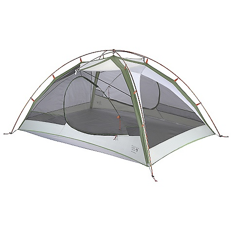 Camp and Hike Free Shipping. Mountain Hardwear Skyledge 3 Person Tent DECENT FEATURES of the Mountain Hardwear Skyledge 3 Person Tent Industry leading DAC Featherlight NSL poles Guaranteed watertight construction with fully taped fly, taped perimeter seam, welded corners and welded guy clip anchors Proprietary Evolution Tension Arch stabilizes tent using fewer poles Two dry entry vestibules with dual slider mesh doors Pitch Light configuration allows user to set up a super light shelter using only the tent fly, poles and footprint (sold separately) SVX window for a brighter interior and visibility of exterior conditions Welded zipper flap construction is lighter and drier than a sewn flap Mesh pockets for interior storage Super-light buckles and webbing reduce tent weight The SPECS Capacity: 3 Person Pitch Type: Freestanding Minimum Weight: 4 lbs 7 oz / 1.99 kg Pitchlight Weight: 3 lbs 3 oz / 1.46 kg Floor Area: 38 square feet / 3.6 square meter Canopy: 20D Poly Knit Mesh (100% polyester)/40D Nylon Ripstop DWR (100% nylon) Reinforcement: 40D Nylon Ripstop Polymer Finish Fly: 20D Nylon Ripstop 1500mm PU/SIL Floor: 70D Nylon Taffeta 3000mm PE Poles: DAC Featherlight NSL Packed Weight: 5 lbs 9 oz / 2.51 kg Vestibule Area: 12+12 square feet / 1.1+1.1 square meter Interior Peak: 45in. / 114 cm Number of Pole: 2 Doors: 2 Vestibules: 2 Packed Size: 7in. x 22in. / 18 x 56 cm - $499.95