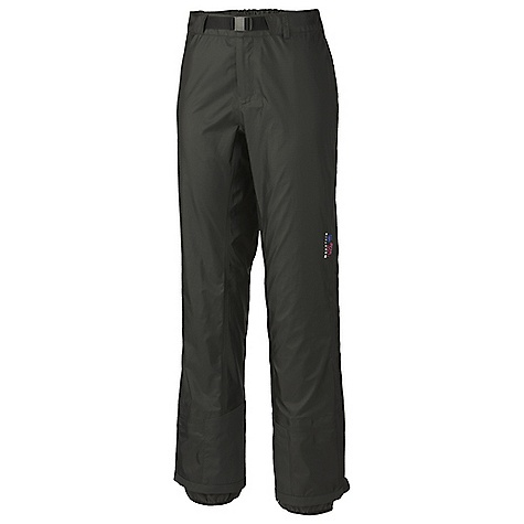 Free Shipping. Mountain Hardwear Women's Quasar Pant DECENT FEATURES of the Mountain Hardwear Women's Quasar Pant Full-length side zippers for easy on/off Internal snow gaiter Adjustable waist with integrated belt for a custom fit Abrasion-resistant scuff guard for extra protection The SPECS Average Weight: 13 oz / 367 g Inseam: 32in. / 81 cm Body: Dry.Q Elite 15d ripstop 3l (50% nylon, 50% polyester) - $299.95