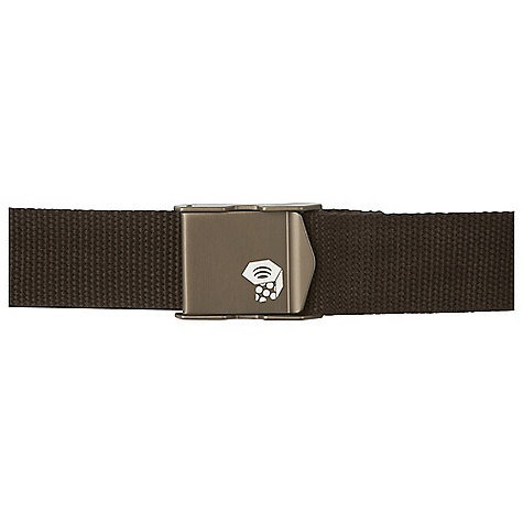 Mountain Hardwear Barn Door Beer Belt DECENT FEATURES of the Mountain Hardwear Barn Door Beer Belt Extruded aluminum buckle with screen printed logo Bottle opener behind closure Durable 1.5in. cotton webbing The SPECS Average Weight: 3.8 oz / 108 g Body: 100% polyester (100% polyester) Panel: 100% nylon Mesh (100% nylon) - $39.95