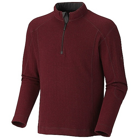 Free Shipping. Mountain Hardwear Men's Mazeno Peak Sweater DECENT FEATURES of the Mountain Hardwear Men's Mazeno Peak Sweater Zip neck for ventilation Flat-lock seam construction eliminates chafe The SPECS Average Weight: 14.6 oz / 413 g Apparel Fit: Relaxed Center Back Length: 28in. / 71 cm Body: Hexahedral Jersey (40% polyester, 20% wool, 20% reclaimed wool, 18% nylon, 2% other fibers) Panel: Hexahedral rib (43% polyester) - $124.95