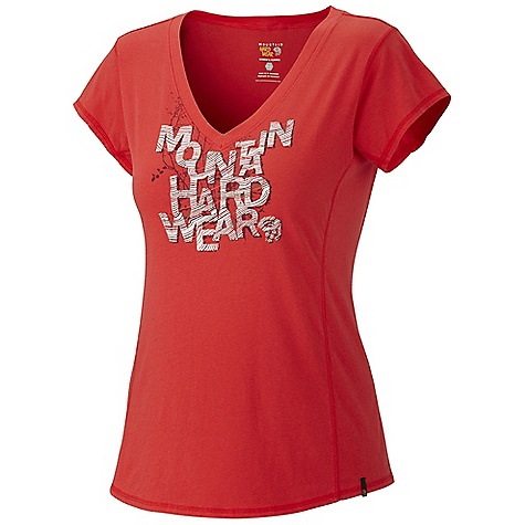 Mountain Hardwear Women's Ziji Graphic T Shirt DECENT FEATURES of the Mountain Hardwear Women's Ziji Graphic T-Shirt Flat-lock seam construction eliminates chafe Side gusset extends to sleeve opening so you can make that big reach without the chafe Detailed with water-based placement print The SPECS Average Weight: 4 oz / 115 g Center Back Length: 25.5in. / 65 cm Body: 140gm Jersey (100% cotton) - $34.95