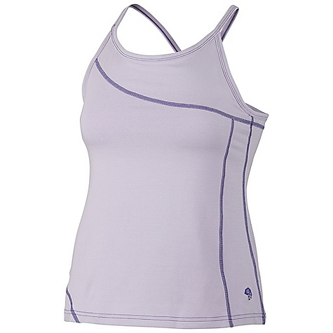 Fitness On Sale. Mountain Hardwear Women's Loess Tank DECENT FEATURES of the Mountain Hardwear Women's Loess Tank Flat-lock seam construction eliminates chafe Integrated shelf bra for support Flattering scooped neckline The SPECS Apparel Fit: Fitted Average Weight: 5.4 oz / 152 g Center Back: 17in. / 43 cm Body: V6 Stretch Jersey (90% cotton, 10% elastane) - $14.99