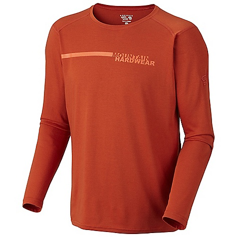 Free Shipping. Mountain Hardwear Men's Cliffer Long Sleeve T DECENT FEATURES of the Mountain Hardwear Men's Cliffer Long Sleeve T Dri-release blended yarns wick moisture and minimize odor Flat-lock seam construction eliminates chafe The SPECS Apparel Fit: Semi-Fitted Average Weight: 9.1 oz / 258 g Center Back Length: 28in. / 71 cm Body: Locator Pass heather Jersey (85% polyester, 15% cotton) - $59.95