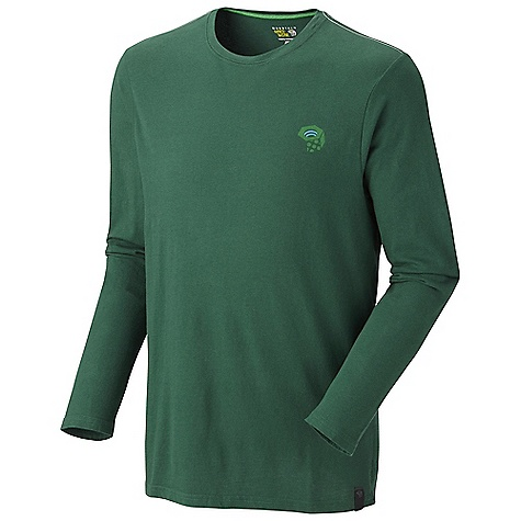 On Sale. Mountain Hardwear Men's MHW Logo L-S T Shirt DECENT FEATURES of the Mountain Hardwear Men's MHW Logo Long Sleeve T Shirt Classic logo T to represent the brand The SPECS Average Weight: 8 oz / 236 g Centre Back Length: 28in. / 71 cm Body: Cotton Tee 160gm Jersey 100% cotton - $21.99