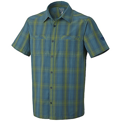 Free Shipping. Mountain Hardwear Men's Buckwell Shirt DECENT FEATURES of the Mountain Hardwear Men's Buckwell Shirt Wrinkle-resistant, quick-drying and durable fabric Two chest pockets to store essentials The SPECS Apparel Fit: Relaxed Average Weight: 5.6 oz / 160 g Center Back Length: 30in. / 76 cm Body: Dux Grid Plaid (100% cotton) - $57.95
