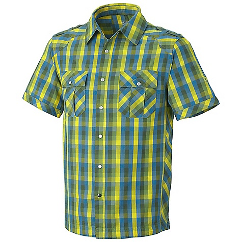 Free Shipping. Mountain Hardwear Men's Cortwright Shirt DECENT FEATURES of the Mountain Hardwear Men's Cortwright Shirt Wrinkle-resistant, quick-drying and durable fabric Snap front closure Two chest pockets to store essentials Epaulets for a kick The SPECS Apparel Fit: Semi-Fitted Average Weight: 6.6 oz / 187 g Center Back Length: 29in. / 74 cm Body: Magister Check (100% cotton) - $59.95