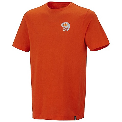 Mountain Hardwear Men's Etchasketch Logo T Shirt DECENT FEATURES of the Mountain Hardwear Men's Etchasketch Logo T-Shirt Detailed with water-based placement print The SPECS Apparel Fit: Semi-Fitted Average Weight: 9.4 oz / 265 g Center Back: 28in. / 71 cm Body: 160gm Owino Jersey (100% cotton) - $31.95
