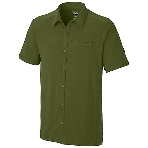 Free Shipping. Mountain Hardwear Men's Frequentor S-S Shirt DECENT FEATURES of the Mountain Hardwear Men's Frequentor Short Sleeve Shirt Dri-Release blended yarns wick moisture and minimize odor Chest pocket for small items The SPECS Average Weight: 8 oz / 200 g Center Back: 29in. / 74 cm Body: Locator Pass stretch Jersey (80% polyester, 14% cotton, 6% elastane) - $74.95