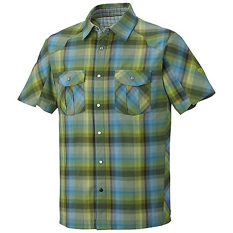 Free Shipping. Mountain Hardwear Men's Hubbard Shirt DECENT FEATURES of the Mountain Hardwear Men's Hubbard Shirt Wrinkle-resistant, quick-drying and durable fabric Two chest pockets to store essentials The SPECS Apparel Fit: Semi-Fitted Average Weight: 6 oz / 175 g Center Back Length: 29in. / 74 cm Body: Imperator Plaid (60% cotton, 40% polyester) - $57.95