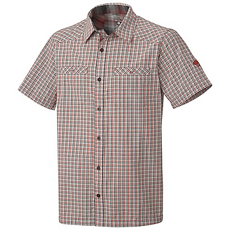 Free Shipping. Mountain Hardwear Men's Huxley Shirt DECENT FEATURES of the Mountain Hardwear Men's Huxley Shirt Wrinkle-resistant and durable fabric Two chest pockets to store essentials The SPECS Apparel Fit: Semi-Fitted Average Weight: 5.5 oz / 157 g Center Back Length: 30in. / 76 cm Body: Centurion Check (60% cotton, 40% polyester) - $57.95
