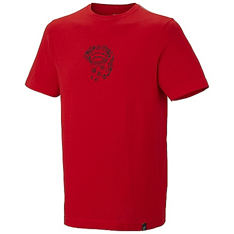 On Sale. Mountain Hardwear Men's Paradox Logo T Shirt DECENT FEATURES of the Mountain Hardwear Men's Paradox Logo T-Shirt Hole for neck Detailed with water-based placement print The SPECS Apparel Fit: Semi-Fitted Average Weight: 9.4 oz / 265 g Center Back Length: 28in. / 71 cm Body: 160gm Owino Jersey (100% cotton) - $22.99