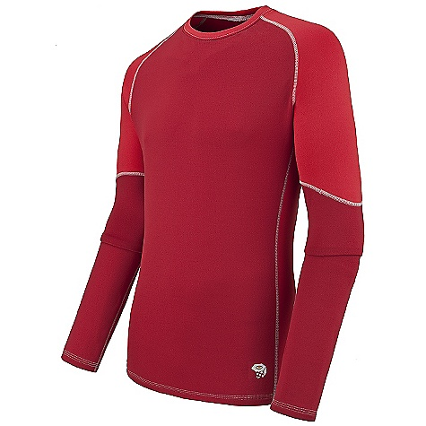 On Sale. Free Shipping. Mountain Hardwear Men's Micro Power Stretch L-S Crew DECENT FEATURES of the Mountain Hardwear Men's Micro Power Stretch Long Sleeve Crew Polartec Micro Power Stretch fabric is soft, lightweight, wicking, and fast-drying with four-way stretch for movement Flat-lock seams are rotated away from abrasion areas for comfort The SPECS Average Weight: 8 oz / 222 g Center Back: 28.0in. / 71 cm Body: Polartec Micro Power Stretch (90% polyester, 10% elastane) - $44.99