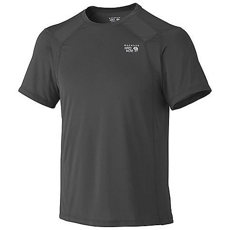 On Sale. Mountain Hardwear Men's Wicked Lite Double SS Tee Shirt DECENT FEATURES of the Mountain Hardwear Men's Wicked Lite Double Short Sleeve Tee Shirt Wicking, fast drying fabric Antimicrobial finish controls odor Flat-lock seam construction eliminates chafe Reflective trim for visibility Detailed with water-based placement print Imported The SPECS Apparel Fit: Semi-Fitted Average Weight: 4.7 oz / 134 g Center Back Length: 27in. / 69 cm Body: Wicked Taper Mesh (100% polyester) - $17.99