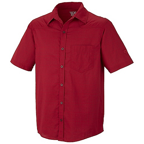 Free Shipping. Mountain Hardwear Men's Mclane S-S Shirt DECENT FEATURES of the Mountain Hardwear Men's Mclane Short Sleeve Shirt Wrinkle-resistant, quick-drying and durable fabric Chest pocket Button front closure The SPECS Average Weight: 7 oz / 191 g Center Back Length: 29in. / 74 cm Body: Charakura plainweave (92% organic cotton, 8% recycled polyester) - $59.95