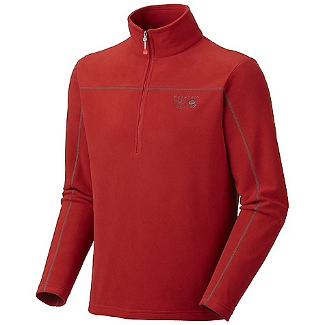 On Sale. Free Shipping. Mountain Hardwear Men's Microchill Zip T DECENT FEATURES of the Mountain Hardwear Men's Microchill Zip T High-cut collar with 11in. zip for thermoregulation Flat-lock construction eliminates chafe Imported The SPECS Apparel Fit: Standard Average Weight: 8 oz / 227 g Center Back Length: 27.5in. / 70 cm Body: Velous Micro Fleece (100% polyester) - $48.99