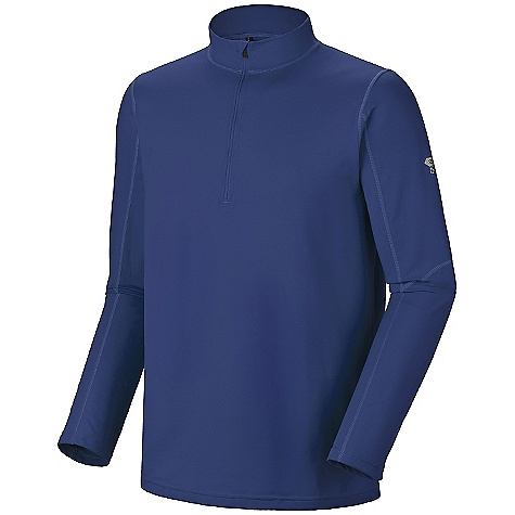 On Sale. Free Shipping. Mountain Hardwear Men's Butter Man 1-2 Zip DECENT FEATURES of the Mountain Hardwear Men's Butter Man 1/2 Zip Wicking, fast drying, stretch fabric Zip neck for ventilation and chin guard for comfort Rear zip pocket secures valuables Flat-lock seam construction eliminates chafe UPF 50 sun protection The SPECS Average Weight: 11 oz / 303 g Center Back Length: 29in. / 74 cm Fabric: Body: Better Butter Jersey (89% polyester, 11% elastane) - $44.99