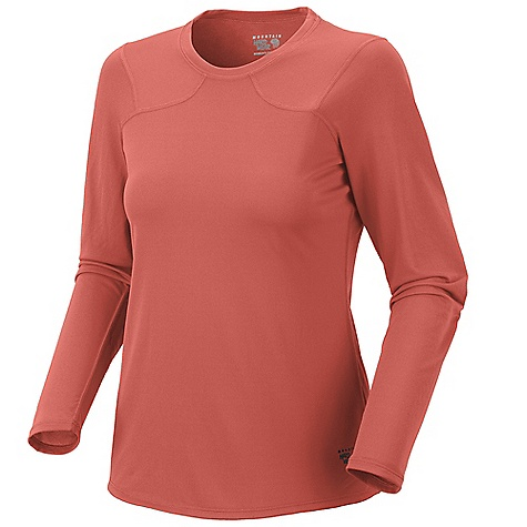 Mountain Hardwear Women's Wicked Lite T L-S Shirt DECENT FEATURES of the Mountain Hardwear Women's Wicked Lite T Long Sleeve Shirt Wicking, fast drying fabric Antimicrobial finish controls odor Flat-lock seam construction eliminates chafe Reflective trim for visibility Imported The SPECS Apparel Fit: Semi-Fitted Average Weight: 4 oz / 113 g Center Back Length: 24.5in. / 62 cm Body: Wicked Taper Mesh (100% polyester) - $39.95