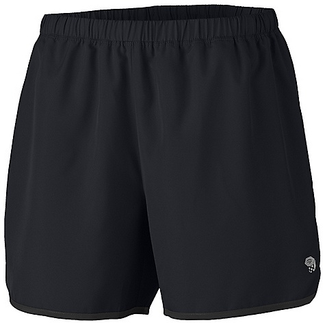 Mountain Hardwear Women's Pacing Short DECENT FEATURES of the Mountain Hardwear Women's Pacing Short Wicking, fast drying, stretch fabric Inseam gusset for mobility Soft drawcord at waist for easy fit adjustments DWR finish repels water Wicking inner brief reduces chafing The SPECS Apparel Fit: Semi-Fitted Average Weight: 3.2 oz / 91 g Center Back Length: 4in. / 10 cm Body: Tile wood Plain Weave (100% polyester) - $39.95