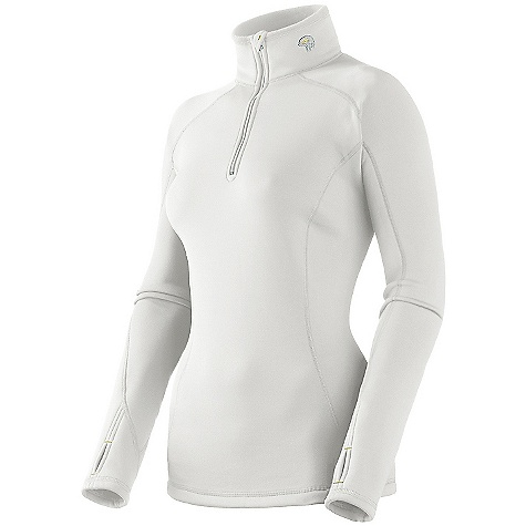On Sale. Free Shipping. Mountain Hardwear Women's Power Stretch Zip T Shirt DECENT FEATURES of the Mountain Hardwear Women's Power Stretch Zip T-Shirt 3in. stand up collar 12in. front zip Reversible Flat-lock seams The SPECS Average Weight: 9 oz / 262 g Center Back: 26in. / 66 cm Body: Polartec Power Stretch (88% polyester, 12% elastane) - $51.99