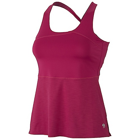 Fitness Free Shipping. Mountain Hardwear Women's Machala Tank DECENT FEATURES of the Mountain Hardwear Women's Machala Tank Wicking, fast drying, stretch fabric Integrated shelf bra for support Adjustable bra and straps to secure fit High side slits for ease of movement Imported The SPECS Apparel Fit: Fitted Average Weight: 4.1 oz / 115 g Center Back Length: 16.75in. / 43 cm Body: Upper: Stria Jersey (85% polyester, 15% elastane) Lower: Besso Jersey (87% polyester, 13% elastane) - $54.95